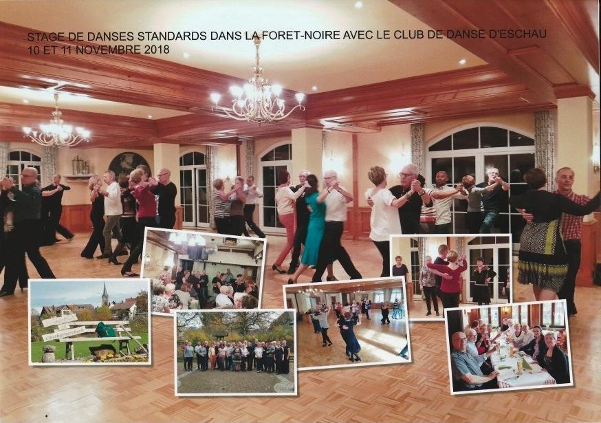 Stage de danses standard en Foret Noire avec le club de danse Eschau du 10 au 11 novembre 2018